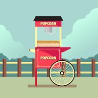 Popcorn Stand Vector Illustration