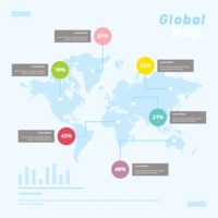 Global Maps Infographic Template