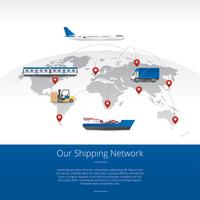 Shipping Global Map Free Vector