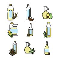 Outlined Set Of Oils
