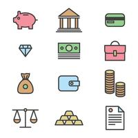 Outlined Icons About Business vector