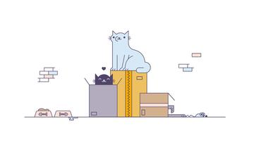 Free Cats Playing Vector