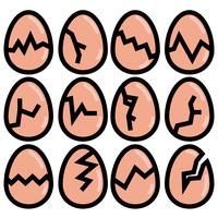Vector Broken Egg Icon Set