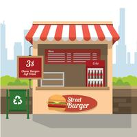 Street Burger Concession Stativ Gratis Vector