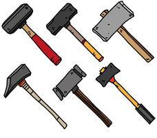 Vector Sledgehammer Flat Cartoon Icons