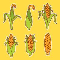 Vector de maíz dibujado a mano