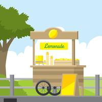 Lemonade Concession Stativ Gratis Vector
