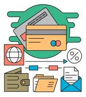 Linear Payment Icons vector