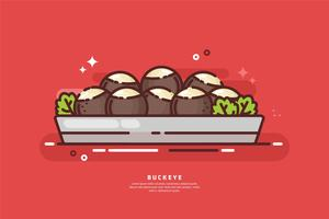 illustration de plateau de buckeye