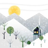 Design piatto Vector Winter Landscape