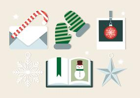 Elementos de Navidad de Vector de diseño gratis