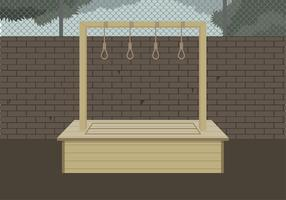 Gallows Illustration Free Vector