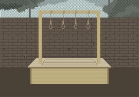Gallows Illustration Free Vector