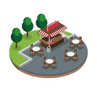 Concession Isometric Free Vector
