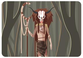 misterious shamanvektor