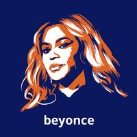 Beyonce Illustration Gratis Vektor
