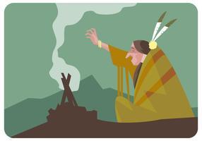 vetor ritual shaman-místico