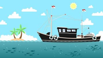 Traditional Trawler Free Vector