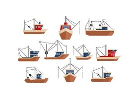 Trawler Flat Icon Vector