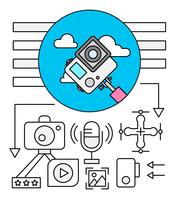 Linear Camera Icon Set