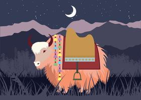 Yak Illustration Vector