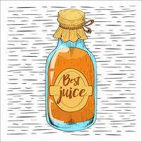 Free Hand Drawn Vector Bottle Illustration