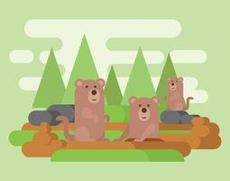 ilustración vectorial de Gopher