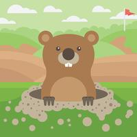 illustration vectorielle de gopher