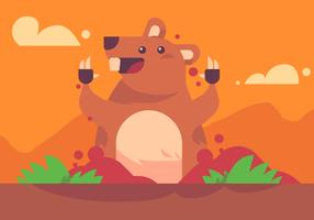 Gopher Popping Up Vector