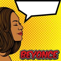 beyonce pop art background vector