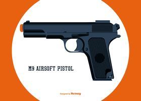Vector Airsoft Pistol Illustration