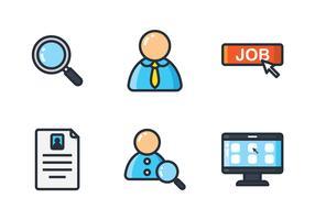 Icono de línea de búsqueda de trabajo