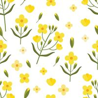 Canola Seamless Pattern Vector
