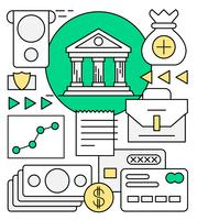 elementos lineales de vector de finanzas y banca