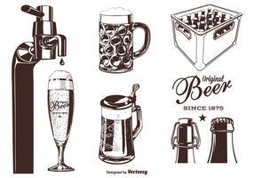 Bier silhouet vector set