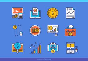 Filled Outline CPA Vector Concept Icons