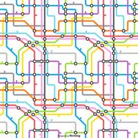 Tube Map Vector Seamless Pattern