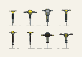 Pneumatic Drill Free Vector Pack