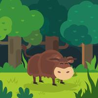 Cute Yak Illustration