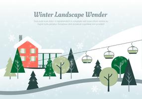 Design Vector Christmas Landscape