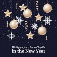 Free Flat Design Vector New Year Background