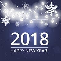 Gratis planlösning vektor nytt år hälsningskort