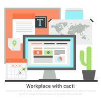 Free Flat Design Vector Office Illustration