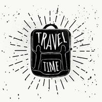 Free Hand Drawn Travel Vector Background