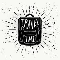 Fondo di vettore di viaggio disegnato a mano libera