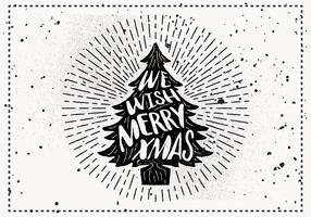 Free Hand Drawn Christmas Vector Greeting Card
