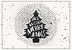 Tarjeta de felicitación de Vector de Navidad dibujado a mano libre