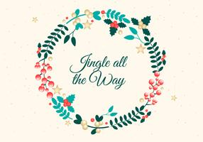 Free Christmas Wreath Background Vector