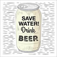 Free Hand Drawn Vector Beer Illustration