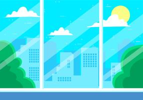 Free Hand Drawn Vector Cityscape Illustration